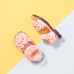 (Pink) Cute Little Flower Girl Children Sandal