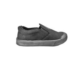 Black synthetic school shoe C388-2B(18)
