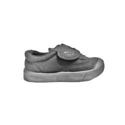 Black synthetic school shoe C388-3B(17)