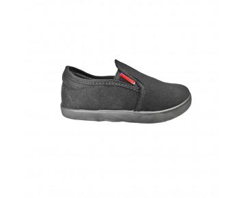 Black synthetic school shoe (MP200B)
