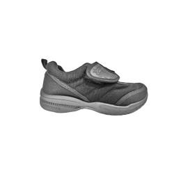 Black synthetic school shoe (191-S20017B)