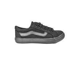 Black synthetic school shoe XW600262(18)